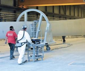 LM Wind Power a inauguré en juillet 2017 l'agrandissement de son usine de Gaspé