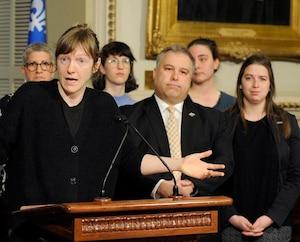 Les députés solidaire et libéral, Catherine Dorion et Sébastien Proulx
