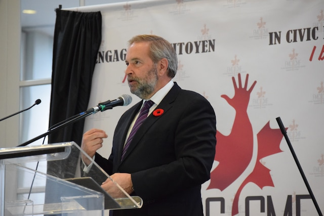 Le chef du NPD, Thomas Mulcair a rappelé que le Canada était un pays accueillant où la discrimination n'était pas acceptée.
