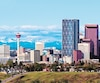 Panorama of Calgary and Rocky Mountains