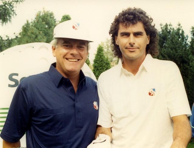 Pierre Lalonde et Carlo Blanchard en août 1989 PHOTO ANDRE VIAU / LES ARCHIVES / LE JOURNAL DE MONTREAL