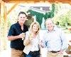 Le président de Verger Lacroix, Pascal Lacroix, et sa conjointe, Danielle Marceau, en présence du grand patron de Microbrasserie Archibald (une division de Labatt), François Nolin (à droite). Ils étaient tous à la Cidrerie Lacroix de Saint-Joseph-du-Lac, hier.