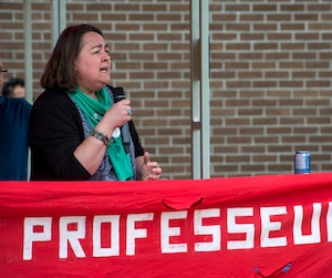 Nicole Lefebvre, vice-présidente de la FNEEQ-CSN