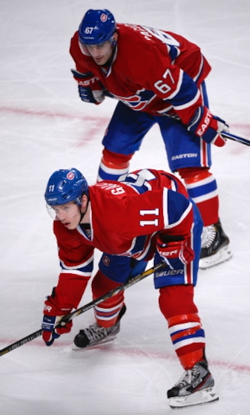 (11) Brendan Gallagher et (67) Max Pacioretty.