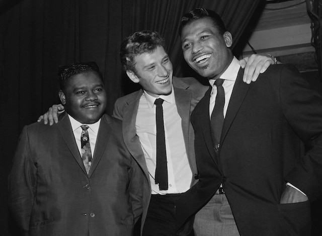 Fats Domino, Johnny Hallyday et Ray Sugar Robinson.
