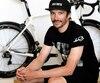 Le cycliste Bruno Langlois lors de la conférence de presse de mardi au cours de laquelle il a été annoncé qu'il sera le capitaine de l'équipe du Québec.
