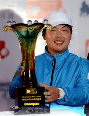Shanshan Feng a gagné le tournoi présenté devant les siens.
