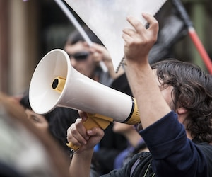Bloc manifestation grève