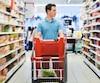 Bloc épicerie consommation supermarché alimentation