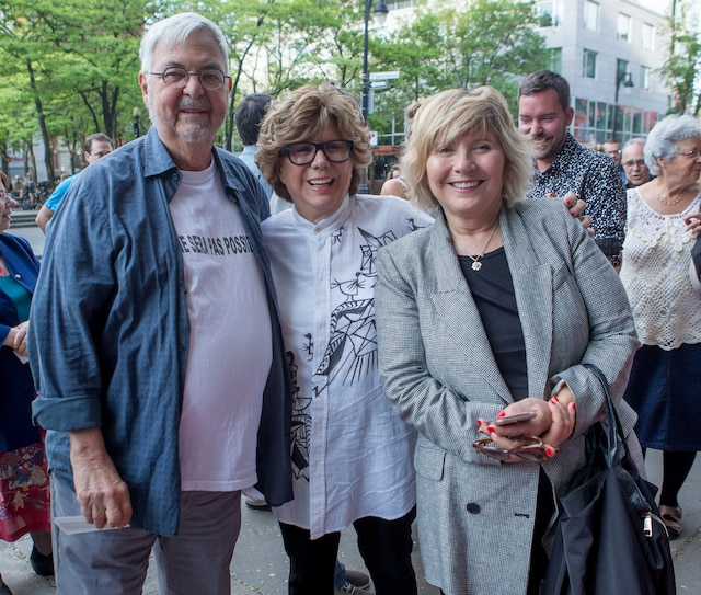 Michel Tremblay, Denise Filiatreau et Danielle Laurin.