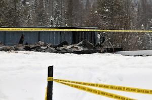 Après l'incendie du 28 décembe 2013, il ne restait plus grand chose du grand chalt de 12 pièces.