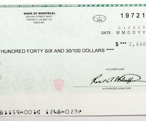 C'est un employé suspicieux du Journal qui nous a montré ce chèque qu'il a reçu récemment à son adresse résidentielle.