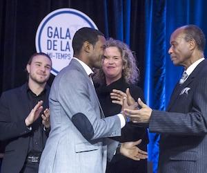 Le père de Patrice, Jean, était avec lui sur scène lors de son intronisation parmi les immortels du soccer québécois.