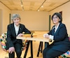 Clémence DesRochers et Lorraine Palardy de la Fondation Les Impatients.