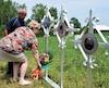Les proches de Mathieu Perron, happé à mort avec sa femme enceinte et son fils par le chauffard Yves Martin en 2015, ont érigé un monument en mémoire des disparus dimanche midi, à Saguenay. Les parents du défunt, Denis Perron et Danielle Tremblay, y ont déposé des fleurs.