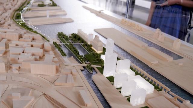 Un complexe résidentiel et commercial en plus d'un hôtel seront établi à l'ouest sur la Pointe-du-Moulin.