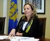 La nouvelle chef de Démocratie Québec, Anne Guérette.