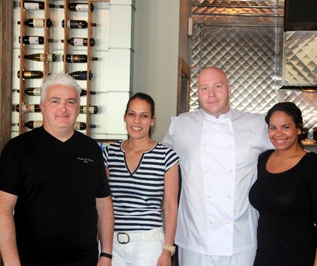 Le chef Luciano et son équipe