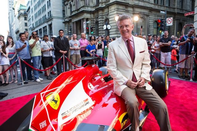 Allen Thicke lors de la soirée Ferrari à l'Hôtel St-James.