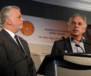 Philippe Couillard et Ghislain Picard