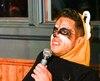 Antoine Durocher en raton laveur lors du spectacle Anthropomorphisme au Minifest.