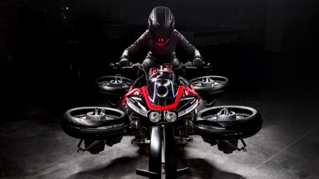 Présentation d'une moto volante!