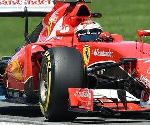 Kimi Raikkonen s'élancera de la troisième position lors de la grande course de dimanche.