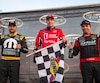 Andrew Ranger, Kevin Lacroix et Marc-Antoine Camirand ont accédé au podium au terme d'une course mouvementée en Série NASCAR Pinty's à Mirabel.