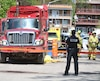 L'accident est survenu peu avant 14h20 sur la rue des Ormes, à Limoilou.