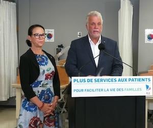 Gertrude Bourdon et Philippe Couillard
