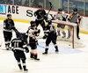 Les Huskies ont déjoué six fois le gardien Tristan Bérubé. Sur la séquence, Patrik Hrehorcak a provoqué l'impasse 2-2 en première période.