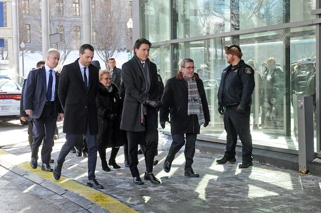 Cérémonie funéraire organisée au centre des congrès de Québec en hommage aux six victimes de la tuerie de la mosquée, le vendredi 3 février 2017. AURÉLIE GIRARD/AGENCE QMI