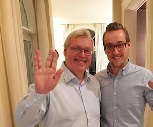 Gaétan Barrette et son fils Geoffroy