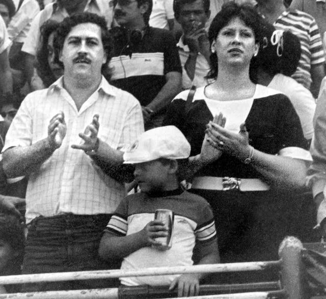 Juan Pablo en compagnie de sa femme Victoria Eugenia Henau et de son jeune fils Juan Pablo.