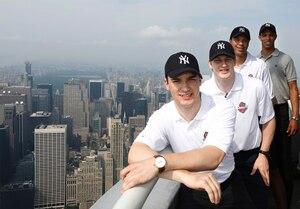 Les espoirs (de gauche à droite) Jonathan Drouin, Nathan McKinnon, Seth Jones et Darnell Nurse.