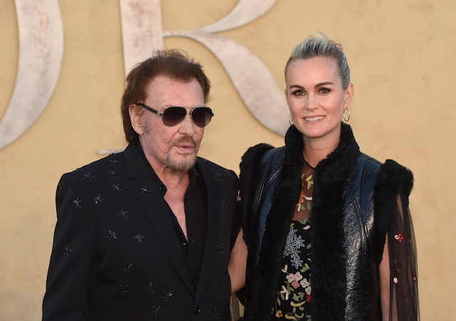 Johnny Hallyday et sa femme.