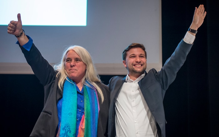 Manon Massé et Gabriel Nadeau-Dubois porte-parole de Québec solidaire.