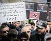 Manifestation des chauffeurs de taxi a Québec, mercredi dernier.