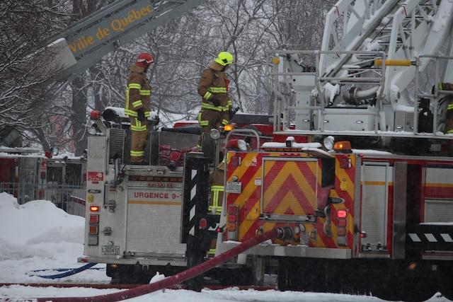 Incendie majeur au Centre Jardin Hamel à L'Ancienne-Lorette.