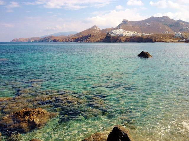 Vue depuis le port de l'Ile  de Naxos.