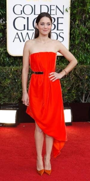Marion Cotillard était en nomination dans la catégorie Meilleure actrice dramatique pour son rôle dans De rouille et d'os.