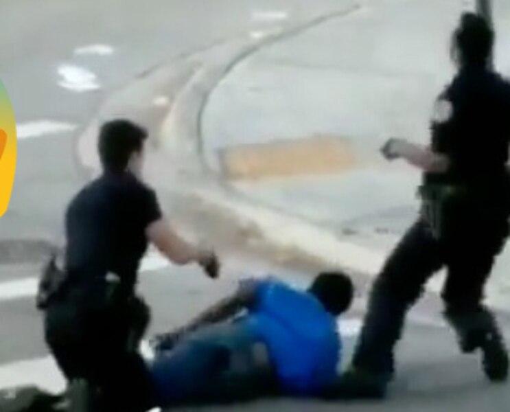 [VIDÉO] Un policier atteint accidentellement son partenaire avec un pistolet Taser lors d'une arrestation qui tourne mal