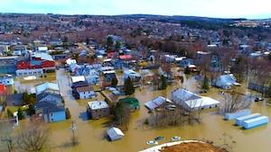 Drones et inondations au Québec