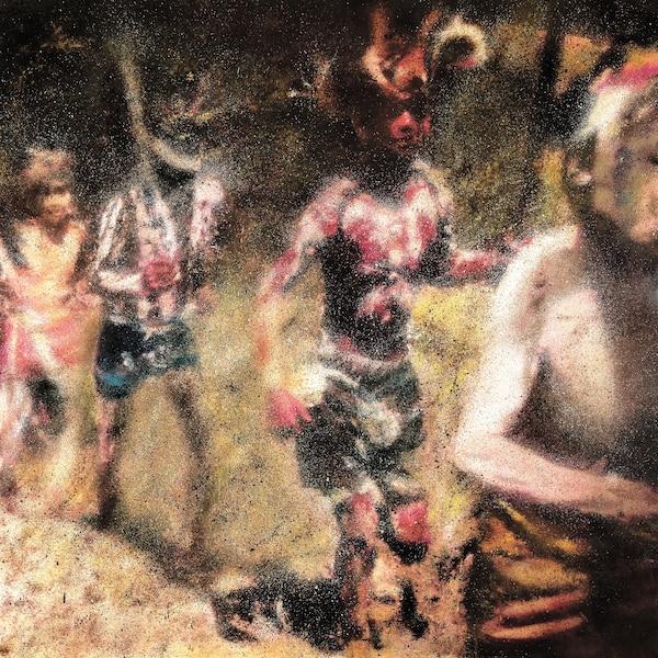 <b><i>Enfants sauvages</i></b><br /> <b>2016 – huile sur toile – 61cm x 61cm</b><br /> Une exposition collective conçue comme un voyage visuel entre le travail et les vacances. Œuvre de Pierre Durette.