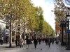 Les Champs-Élysées, l'avenue la plus célèbre de Paris.