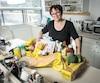 La chef Andrea Jourdan a pris le pari d'acheter peu de desserts et de produits laitiers pour respecter le budget.