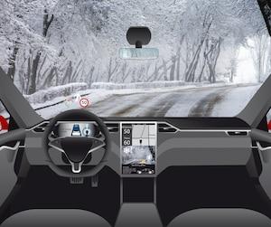 Voiture autonome hiver