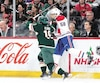 Arborant une grille, Noah Juulsen est revenu au jeu après une absence de neuf matchs, mardi au Minnesota.