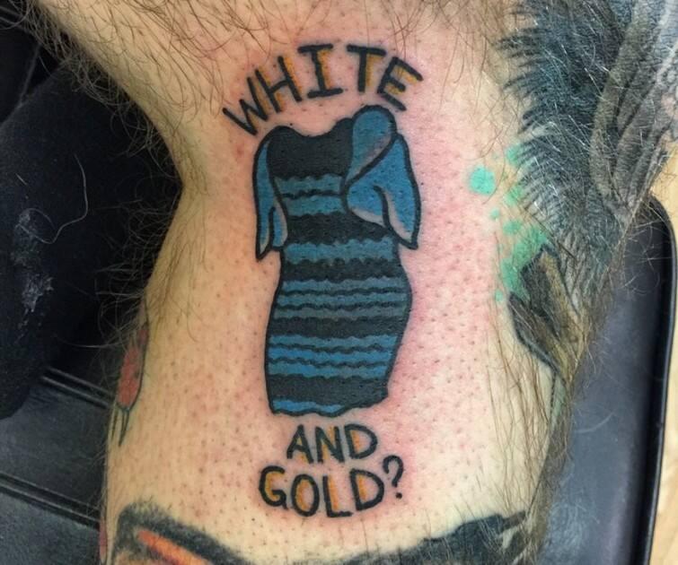 Image robe noire et bleue