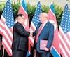 Trump et Kim Jong-un lors de leur rencontre le 12 juin , 2018.